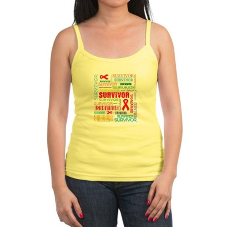 Survivor Colorful Blood Cancer Jr. Spaghetti Tank