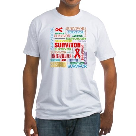 Survivor Colorful Blood Cancer Fitted T-Shirt