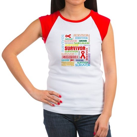 Survivor Colorful Blood Cancer Women's Cap Sleeve