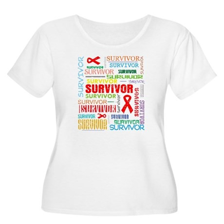 Survivor Colorful Blood Cancer Women's Plus Size S