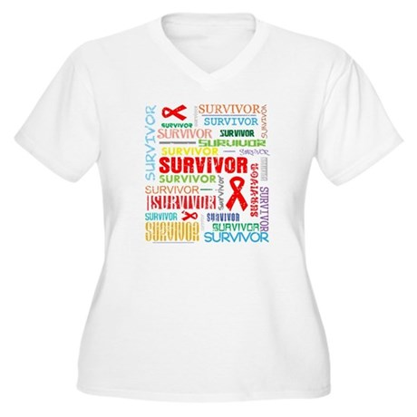 Survivor Colorful Blood Cancer Women's Plus Size V