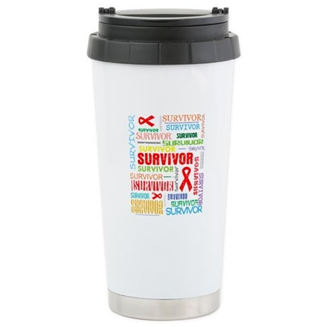 Survivor Colorful Blood Cancer Ceramic Travel Mug
