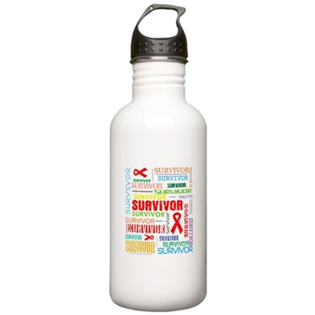 Survivor Colorful Blood Cancer Stainless Water Bot