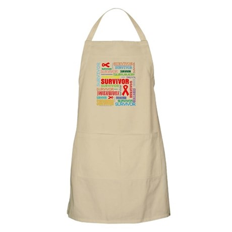 Survivor Colorful Blood Cancer Apron