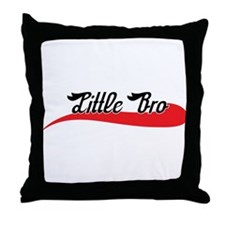 Jersey Script Lil' Bro Throw Pillow