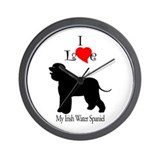 Irish Water Spaniel Wall Clock