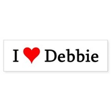 I Love Debbie Bumper Bumper Sticker