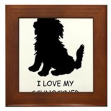 Puppy Love Framed Tile