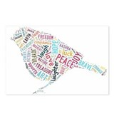 Bird of peace, joy, freedom, Postcards (Package of
