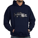 Striped Bass Skeleton Hoodie