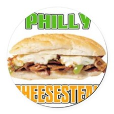 Philly Cheesesteak Round Car Magnet