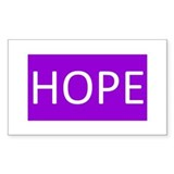 Purple Hope Decal