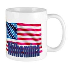 Wilhemina Personalized USA Flag Mug