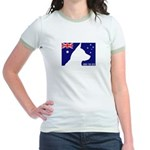 Obey the ACD! Tricolor Jr. Ringer T-Shirt