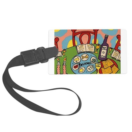 Seder Table Large Luggage Tag