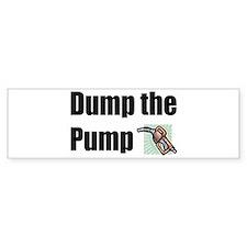 Dump the Pump Bumper Car Sticker