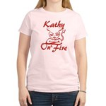 Kathy On Fire Women's Light T-Shirt