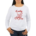 Kathy On Fire Women's Long Sleeve T-Shirt