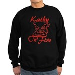 Kathy On Fire Sweatshirt (dark)