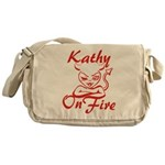 Kathy On Fire Messenger Bag