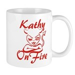 Kathy On Fire Mug