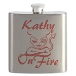 Kathy On Fire Flask