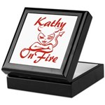 Kathy On Fire Keepsake Box