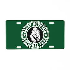 Rocky Mountain Green Circle Aluminum License Plate