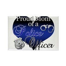 Police Mom Rectangle Magnet