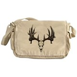 whitetail skull Messenger Bag