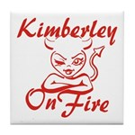 Kimberley On Fire Tile Coaster