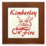 Kimberley On Fire Framed Tile