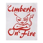Kimberley On Fire Throw Blanket