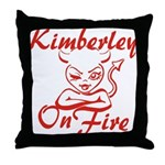 Kimberley On Fire Throw Pillow