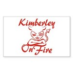 Kimberley On Fire Sticker (Rectangle)
