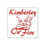 Kimberley On Fire Square Sticker 3