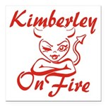 Kimberley On Fire Square Car Magnet 3