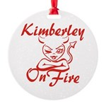 Kimberley On Fire Round Ornament