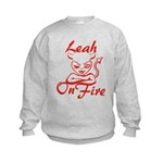 Leah On Fire Kids Sweatshirt