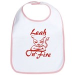 Leah On Fire Bib