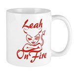 Leah On Fire Mug