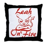 Leah On Fire Throw Pillow