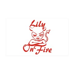 Lily On Fire 35x21 Wall Decal