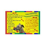 Cute My greyhound Rectangle Magnet
