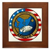 Apollo 1 Mission Patch Framed Tile