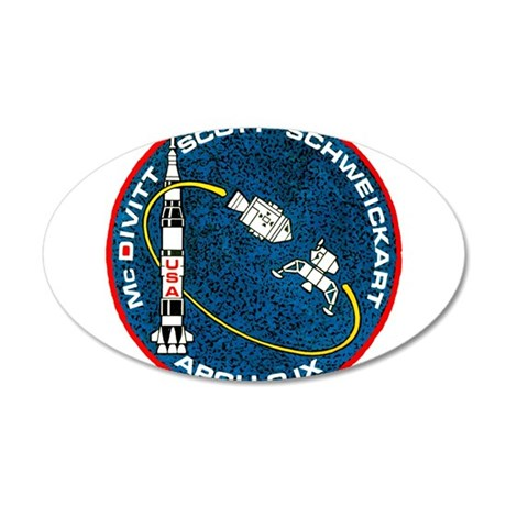 Apollo 9 Mission Patch 35x21 Oval Wall Decal