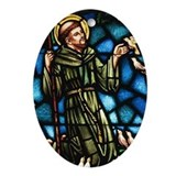 Saint Francis Oval Ornament
