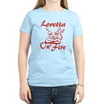Loretta On Fire Women's Light T-Shirt