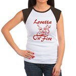 Loretta On Fire Women's Cap Sleeve T-Shirt