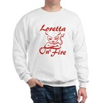 Loretta On Fire Sweatshirt